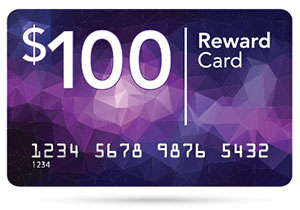 $100 Reward Card
