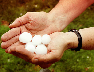 Hail in the hand is worth none on the roof