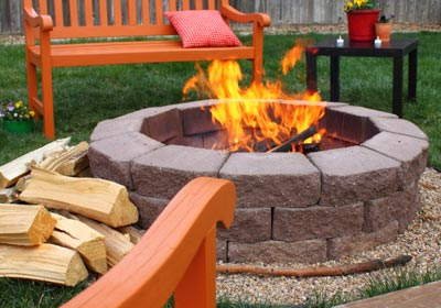 brick fire pit