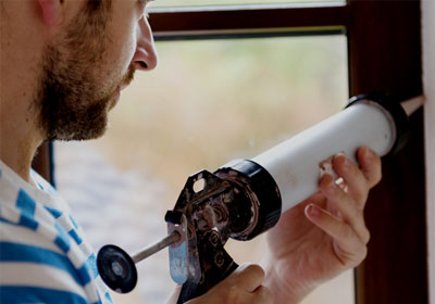 window caulking