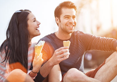 couple eating ice cream