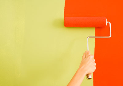 painting orange wall