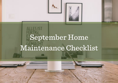 September Home Maintenance List