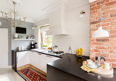 small-kitchen-exposed-brick