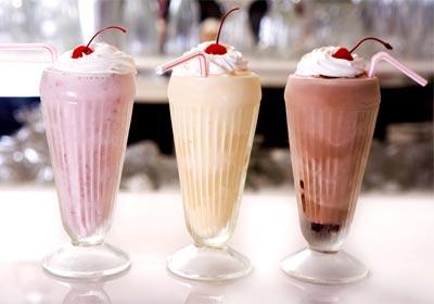 three milkshakes