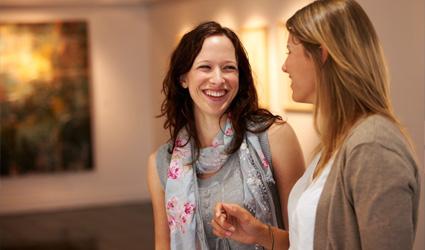 Women in art gallery
