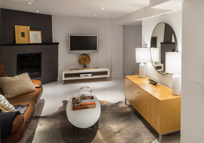 finished-basement-grey-fireplace