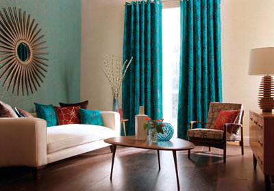 jewel-tone-patterned-window-treatments
