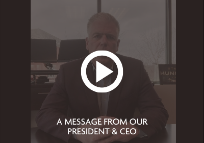 A message from our President & CEO, Mike Frazier