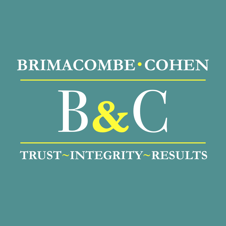 Brimacombe and Cohen. Trust. Integrity. Results.